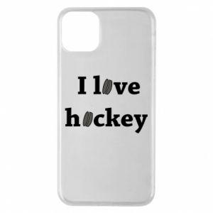 Etui na iPhone 11 Pro Max I love hockey
