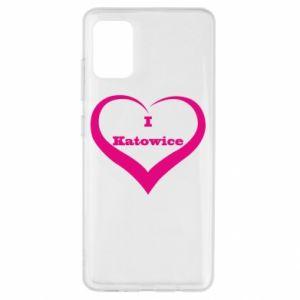 Etui na Samsung A51 I love Katowice