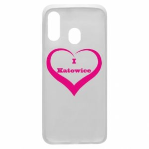 Phone case for Samsung A40 I love Katowice