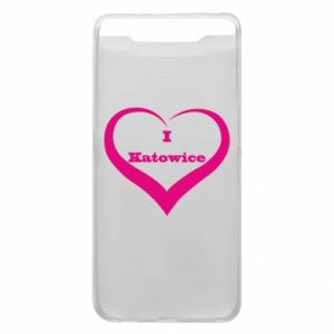 Phone case for Samsung A80 I love Katowice