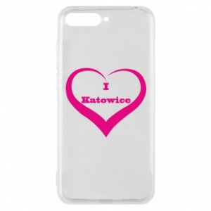 Phone case for Huawei Y6 2018 I love Katowice