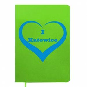 Notepad I love Katowice