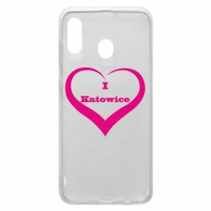 Phone case for Samsung A20 I love Katowice