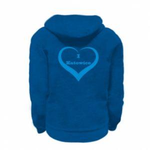 Kid's zipped hoodie % print% I love Katowice