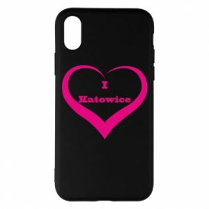 Phone case for iPhone X/Xs I love Katowice