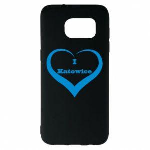 Samsung S7 EDGE Case I love Katowice
