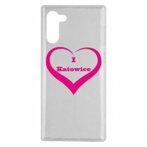 Samsung Note 10 Case I love Katowice