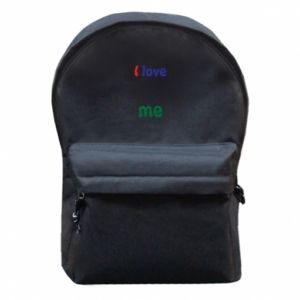Backpack with front pocket I love me. Color