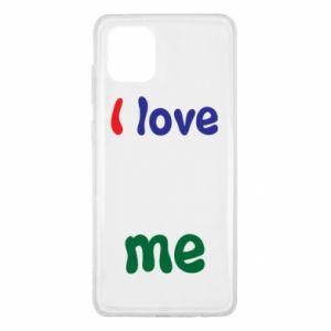 Samsung Note 10 Lite Case I love me. Color