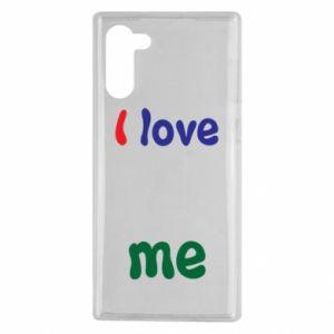 Samsung Note 10 Case I love me. Color
