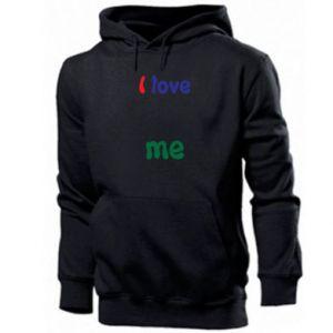 Men's hoodie I love me. Color