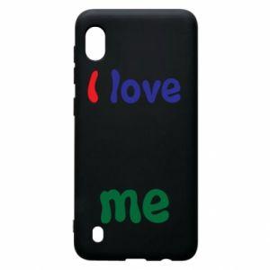 Samsung A10 Case I love me. Color