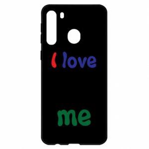 Samsung A21 Case I love me. Color