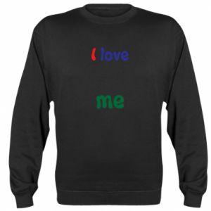 Sweatshirt I love me. Color