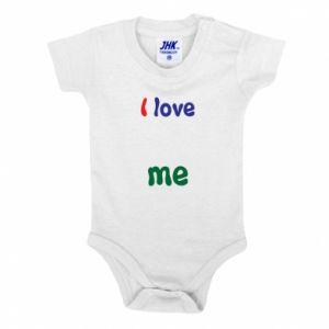 Baby bodysuit I love me. Color
