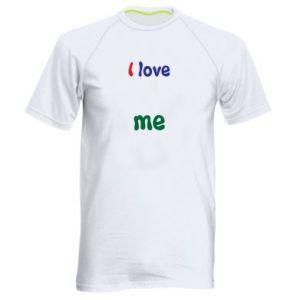 Men's sports t-shirt I love me. Color