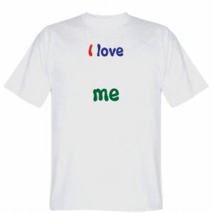 T-shirt I love me. Color