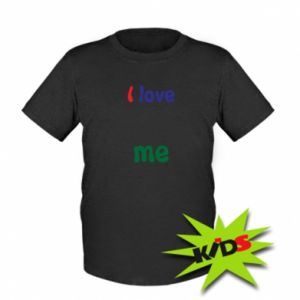Kids T-shirt I love me. Color