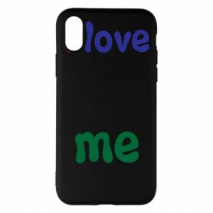 Phone case for iPhone X/Xs I love me. Color