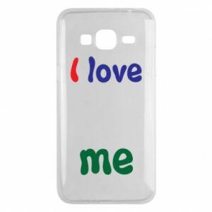 Phone case for Samsung J3 2016 I love me. Color