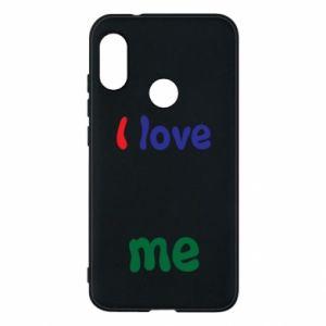 Phone case for Mi A2 Lite I love me. Color