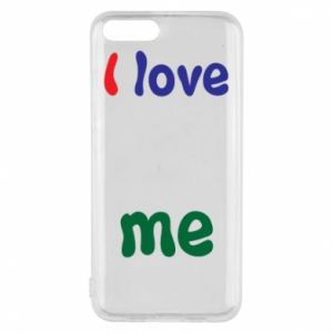 Phone case for Xiaomi Mi6 I love me. Color
