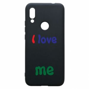 Phone case for Xiaomi Redmi 7 I love me. Color
