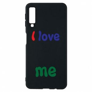 Phone case for Samsung A7 2018 I love me. Color