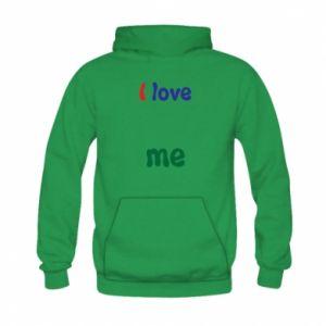 Kid's hoodie I love me. Color