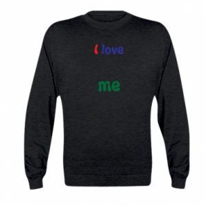 Kid's sweatshirt I love me. Color