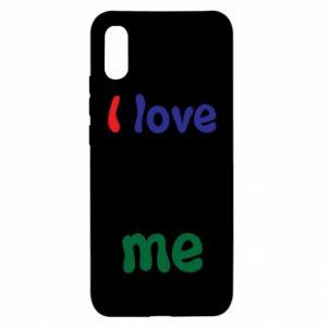 Xiaomi Redmi 9a Case I love me. Color