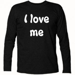Koszulka z długim rękawem I love me