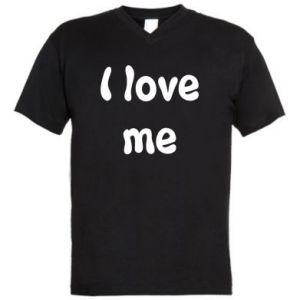 Męska koszulka V-neck I love me