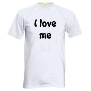 Męska koszulka sportowa I love me