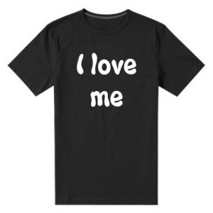 Męska premium koszulka I love me