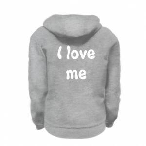 Kid's zipped hoodie I love me
