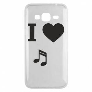 Phone case for Samsung J3 2016 I love music