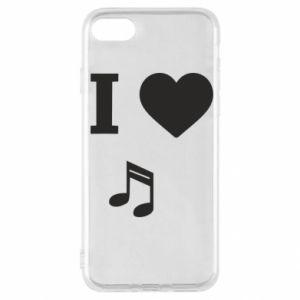Etui na iPhone SE 2020 I love music