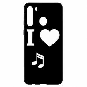 Etui na Samsung A21 I love music