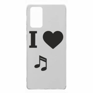 Etui na Samsung Note 20 I love music