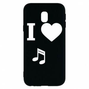 Phone case for Samsung J3 2017 I love music