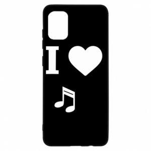 Etui na Samsung A31 I love music