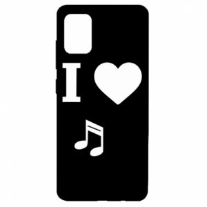 Etui na Samsung A51 I love music
