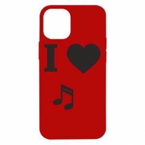 Etui na iPhone 12 Mini I love music
