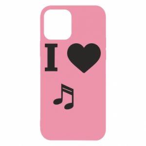 Etui na iPhone 12/12 Pro I love music