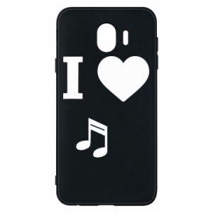 Phone case for Samsung J4 I love music