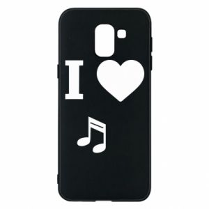 Phone case for Samsung J6 I love music