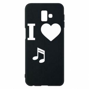 Phone case for Samsung J6 Plus 2018 I love music