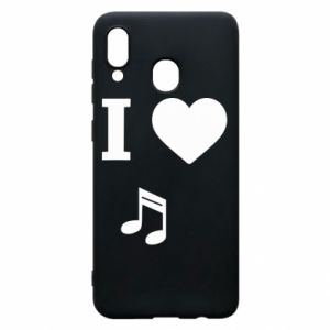 Phone case for Samsung A20 I love music
