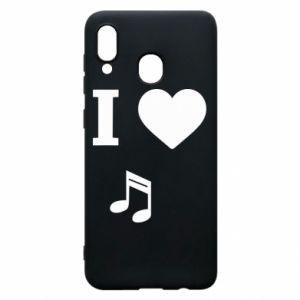 Etui na Samsung A20 I love music